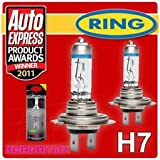 Pair of Xenon Gas Ultima H7 12v Car 120% Brighter Upgrade Headlight Headlamp Bulbs Upgrade your Headlights in Minutes for JAGUAR XF Saloon FROM 2008 TO 2011