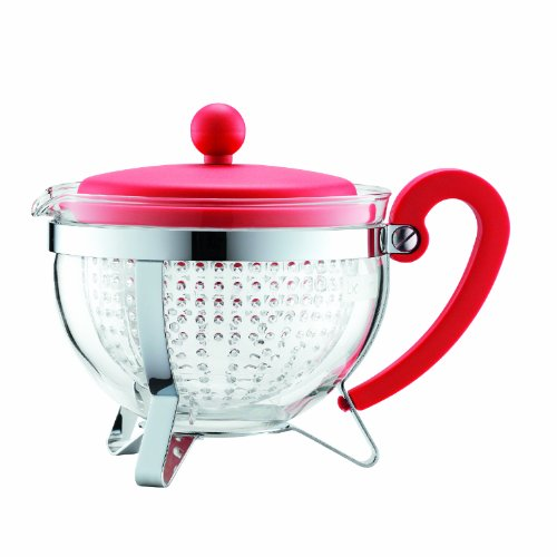 Bodum Chambord 1-Liter Tea Pot, 34-Ounce, Red (Bodum Teapot Red compare prices)
