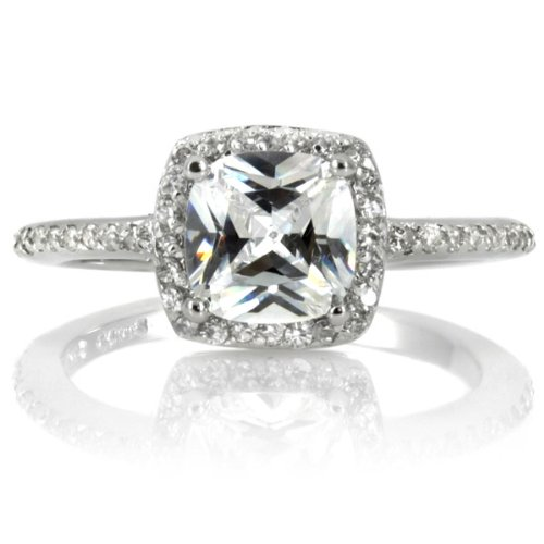 Liezel's Engagement Ring – Cushion Cut CZ – 925 Sterling Silver