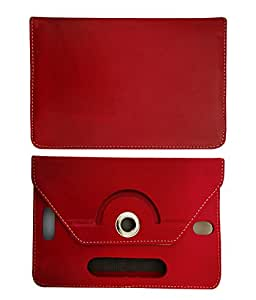 Fastway 8 Inch Rotate Tablet Book Cover For Asus Memo Pad8 Me581-Red