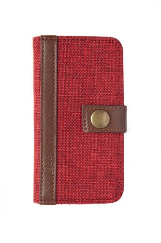 Special Sale Salt Cases Thermally Protective iPhone 5/ 5S Wallet Cover. Royal Red Tweed