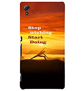 PRINTVISA Quotes Motivation Case Cover for Sony Xperia Z3 Plus