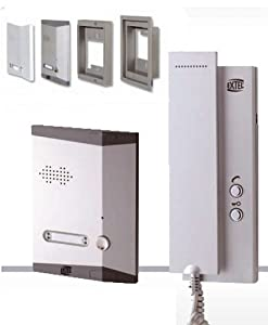 extel kit interphone audio sur 2 fils wepa 241 amazon. Black Bedroom Furniture Sets. Home Design Ideas