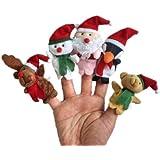 niceeshop(TM) Christmas Santa ClaUK Snowman Baby Stories Helper /Finger Puppets Toy Doll