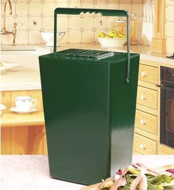 Garland 9-litre Kitchen Compost Caddy with Odour Filter