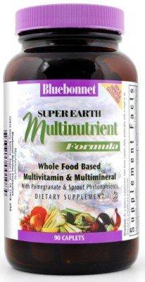Super Earth Multinutrient Formula Iron Free Bluebonnet 90 Caplet front-447462