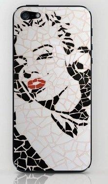 並行輸入品マリリン・モンロー society6 iphone 5/5sステッカー (Marilyn11)