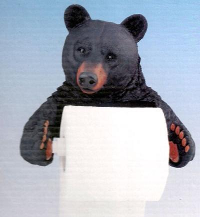 Black Bear Lodge Bathroom Decor Toilet Paper Holder
