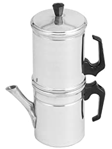 Ilsa Neapolitan 6-Cup Aluminum Coffee Maker by Harold Imports