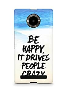 AMEZ be happy it drives people crazy Back Cover For YU Yupheria