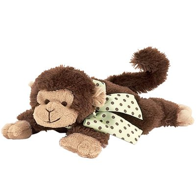 Giggles Plush Monkey Rattle by Bearington Baby