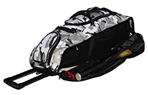 Gray Camouflage Cobra XL Softball Baseball Catchers Bat Equipment Roller Bag by MAXOPS
