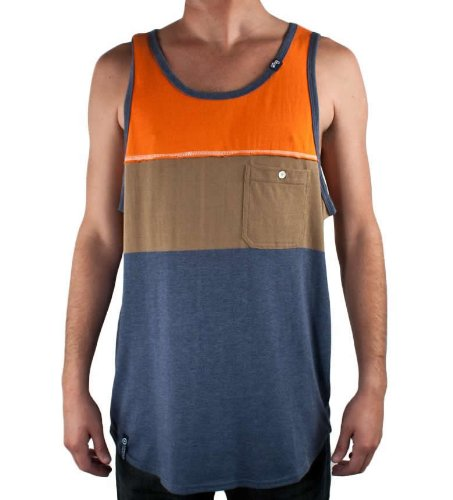LRG Field Of View Tank Top Vest in Navy Heather, Size Extra Large (XL)