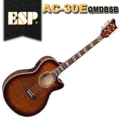 ESP LTD MH-401FR QM - Dark Brown Sunburst | Rich Tone Music