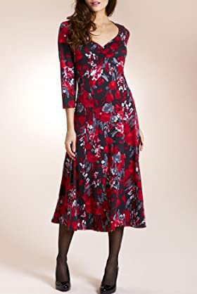 Per Una Empire Line Floral Print Jersey Dress [T62-2663I-S]