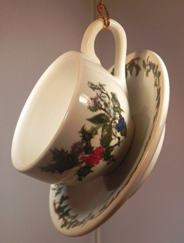 Portmeirion Holly and Ivy Cup and Saucer Ornament