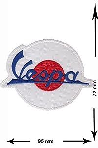 Vespa white red Motorbike Motorsport Motorcycles Biker Giacca maglietta Logo de la chaqueta de la camiseta Parche Parches Termoadhesivos parches para ropa parches bordado   Comentarios de clientes y más información