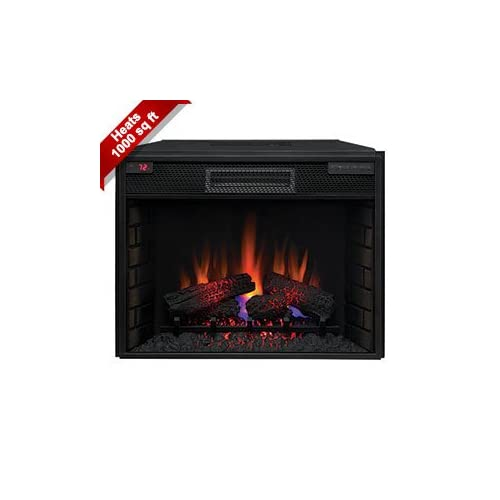 Classicflame 28 Inch Fixed Glass Spectrafire Infrared Quartz Electric Fireplace Insert