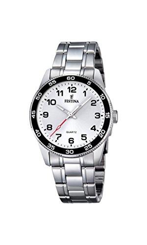 Festina Reloj unisex de cuarzo con Negro esfera analógica pantalla cuarzo acero inoxidable F16905/1