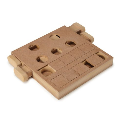 Good Zanies Particle Board Paws-On Puzzle Square Dog Toy, 10-Inch