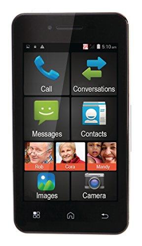 Premium Großtasten Smartphone Androud Handy Senioren Handy + SOS Funktion - ohne Vertrag