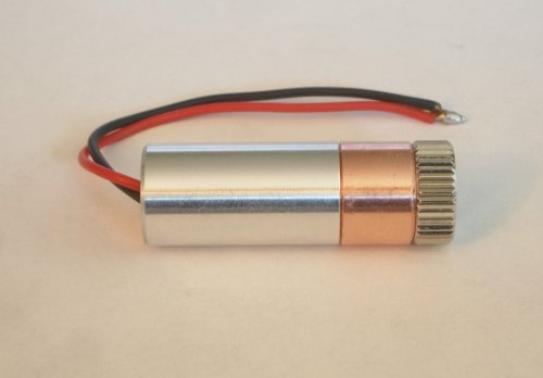 2W 445nm M140 Blue Diode in Copper Module W/Leads & Three Element Glass Lens