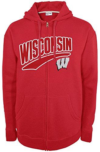 NCAA Wisconsin Badgers Long Sleeve Full Zip Hood, Large, Red
