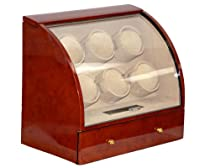 Pangaea 6 Watch Winder (Dark Brown) Q600DB