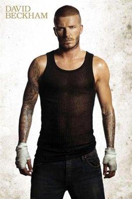 David Beckham (Vest) Sports Poster Print - 24x36