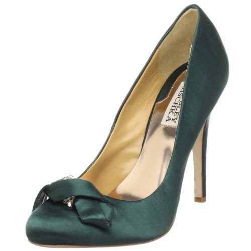 Badgley Mischka Women's Opel Special Occasion Heel Green Satin MP2035 6 UK