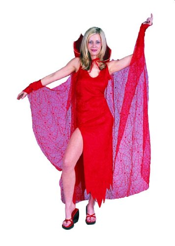 Adult Red Spider Web Cape Costume Accessory