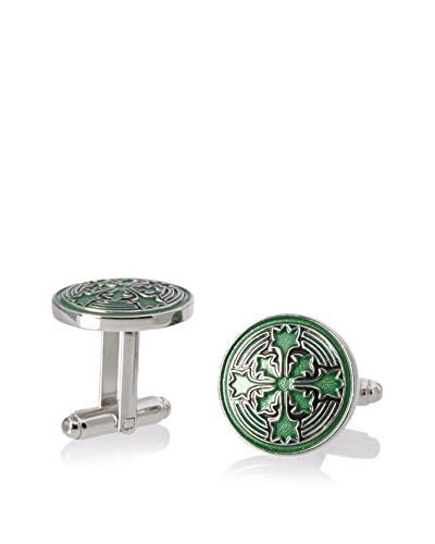 L2 by LOMA Green Firenze Petal Cufflinks