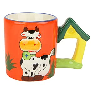 Amazon.com | Cow Mug with Moo Sound, Cup Moos When Lifted, Ceramic, 3