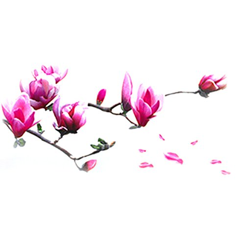 VivReal Large Magnolia Flowers Mural Art Decal Wall Stickers [Kitchen & Home]