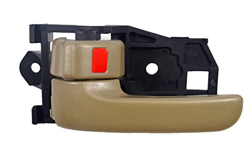 PT Auto Warehouse TO-2562E-1LH - Inside Interior Inner Door Handle, Beige/Tan - Driver Side (Driver Door Handle 98 Camry compare prices)