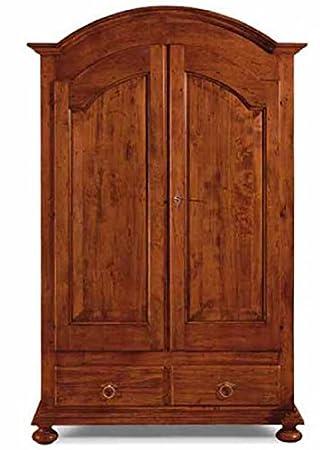 bioecoshop–2door wardrobe solid Poplar wood–The Sir Mis 125x 61cm H 200cm Made in Italy