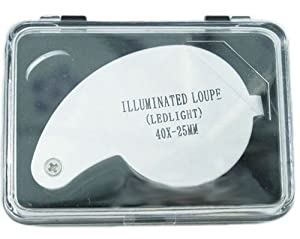 40 X 25mm Loupe with 2 Led Light Jewellers Appraisal Eye Magnifier (Model: M010422)
