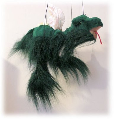 """Green Dragon 18"""" Marionette By Sunny Puppets front-640888"""