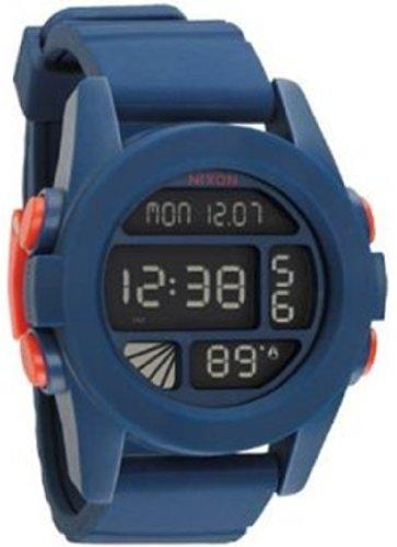Nixon Men's A197307-00 Blue Polyurethane Quartz Watch with Digital Dial