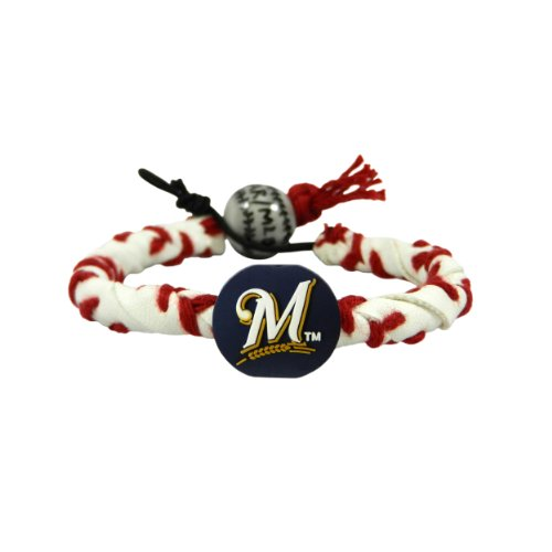 Classic Frozen Rope Baseball Bracelet - Milwaukee Brewers at Amazon.com