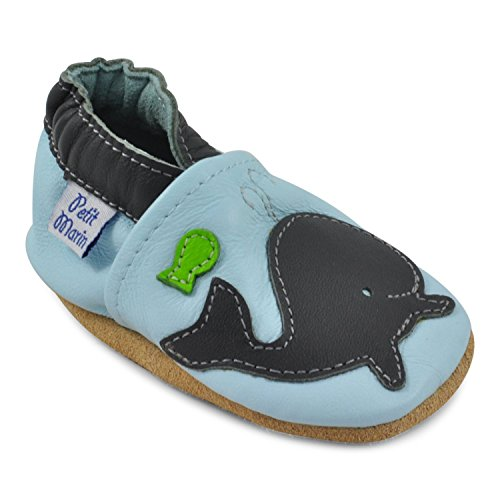 4bcbf88baddea Petit Marin Beautiful Soft Leather Baby Shoes with Suede Soles ...