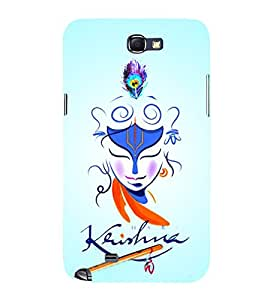 Lord Sri Krishna Ji 3D Hard Polycarbonate Designer Back Case Cover for Samsung Galaxy Note i9220 :: Samsung Galaxy Note 1 N7000