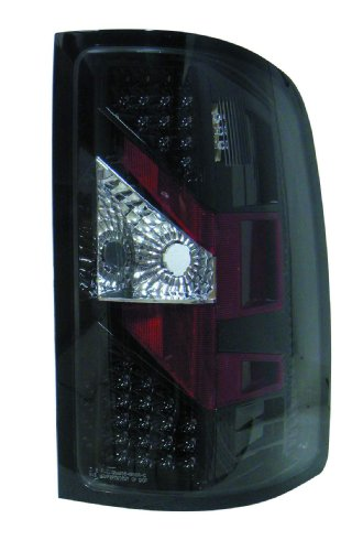 Depo M35-1905P-As2 Gmc Sierra Black Led Tail Light Assembly