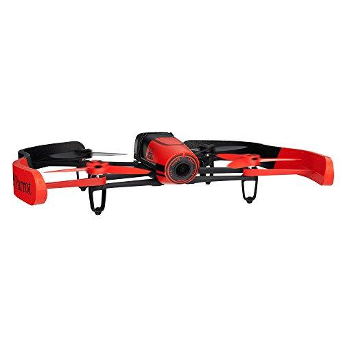 【国内正規品】Parrot Bebop Drone レッド Full HD 1400万画素 魚眼レンズ カメラ・8GB 内部フラッシュメモリー・MIMO WIFI・自動安定ホバーリング・「バッテリー」×2本(合計で22分飛行可能)パリデザイン・GNSS (GPS+GLONASS)付・クワッドコプター  PF722040