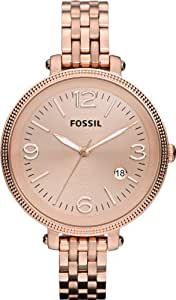 Fossil Ladies Rose Gold Tone Bracelet Watch ES3130