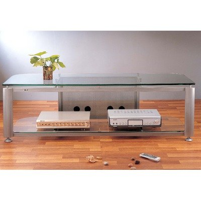 Cheap HGR 60″ TV Stand Glass: Frosted, Pole Color: Silver (HGR60SF)