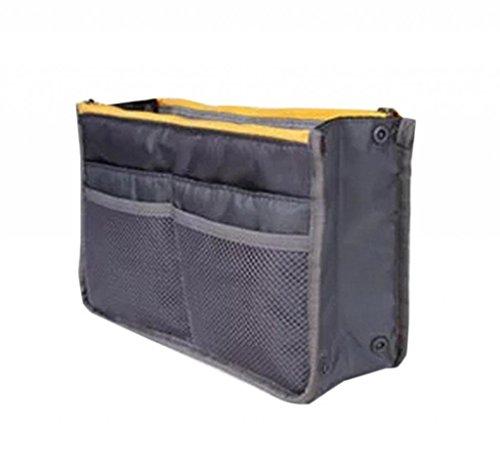 La Vogue Trousse de Rangement Grande Compartiment Coupe Rectangle Polyester Filet Zippé Multifonction Fourniture Bureau Voyage Taille 28*8.5*17cm Noir