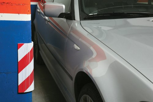 Bumper Car Garage : Sumex foam concrete post garage car bumper door
