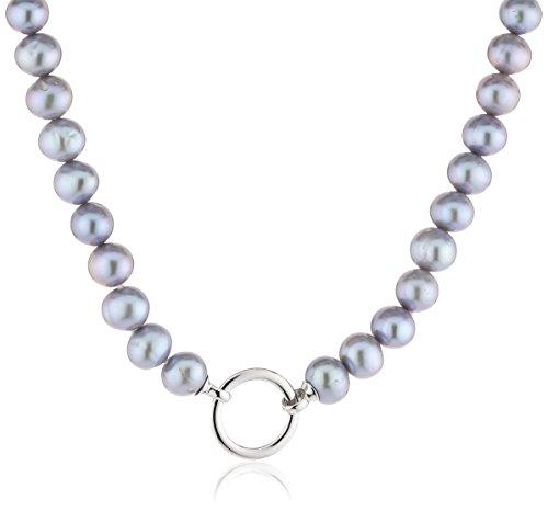 Celeste Damen-Collier 925/- Sterling Silber, 45cm, Süßwasserzuchtperlen grau,360250136