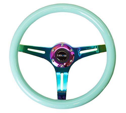 nrg-st-015mc-mf-350mm-classic-wood-grain-white-steering-wheel-3-spoke-center-in-neochrome-minty-fres